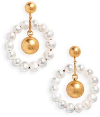 Madewell Pearl Hoop Earrings