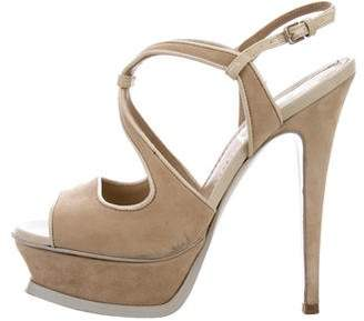 Saint Laurent Platform Slingback Sandals