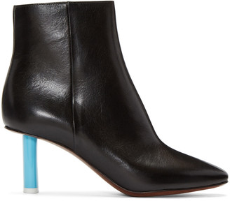 Vetements Black Leather Ankle Boots $1,315 thestylecure.com