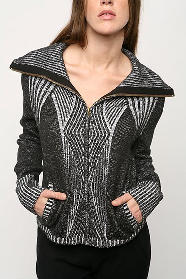 BDG Cable Zip Cardigan
