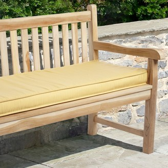 "Mozaic Sunbrella 60"" x 19"" Textured Outdoor Bench Cushion"