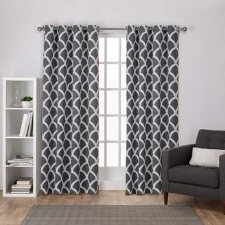 Durango Amalgamated Textiles Geometric Blackout Grommet Curtain Panels