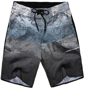 Trunks Pivaconis Mens Casual Print Drawstring Loose Swim Beach Board Shorts US XXL