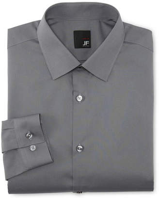 Jf J.Ferrar JF Solid Dress Shirt - Slim Fit