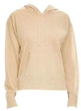 Sandro H18 Metallic Hooded Pullover