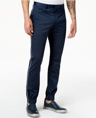 Tallia Orange Men's Modern-Fit Navy Solid Jogger Dress Pants