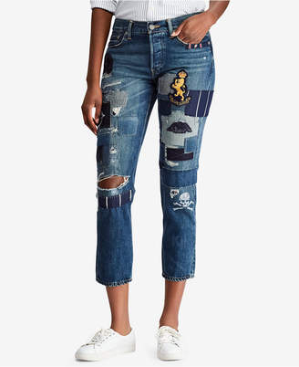 Polo Ralph Lauren Embroidered Boyfriend Jeans
