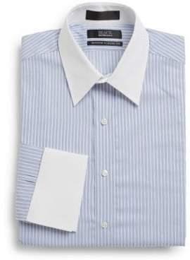 Saks Fifth Avenue Modern Classic-Fit Striped Contrast Cotton Dress Shirt