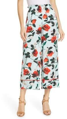 Alice + Olivia Elba Floral Crop Pants