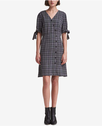 DKNY Plaid Shirtdress