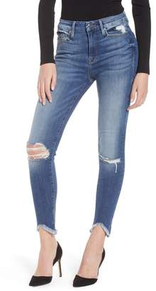 Good American Good Legs Ripped High Waist Skinny Jeans