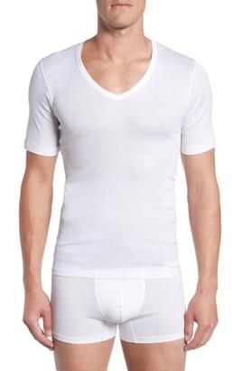 Men's Hanro V-Neck T-Shirt $70 thestylecure.com
