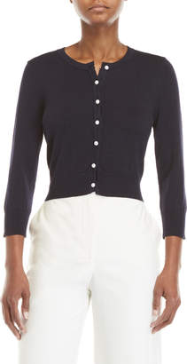Karl Lagerfeld Faux Pearl Button Cardigan