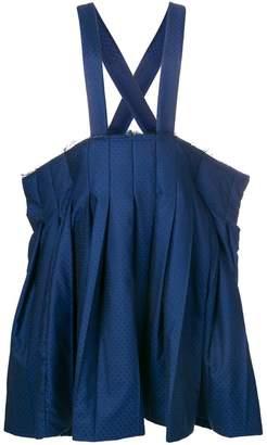 Comme des Garcons polka dot pleated skirt