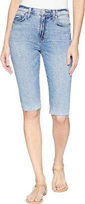 Hudson Jeans Women's Zoeey HIGH Rise Straight Cut Off Boyfriend Short