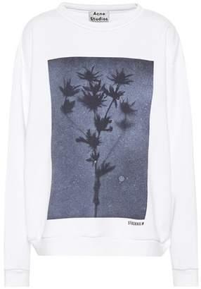 Acne Studios Flower Photo cotton sweatshirt