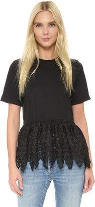 endless rose Lace Tee $55 thestylecure.com