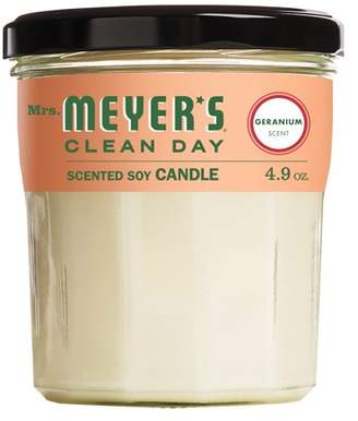 Mrs. Meyer's Clean Day Mrs. Meyers Clean Day Scented Soy Candle, Geranium, Candle, 4.9 ounce