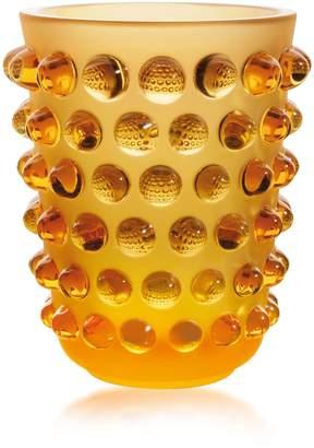 Lalique Crystal Mossi Vase