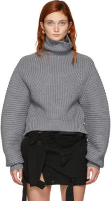 Alexander Wang Grey Split Turtleneck