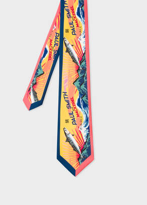 Paul Smith Men's 'Mackerel' Print Silk Tie