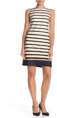 Vince Camuto Striped Ponte Shift Dress