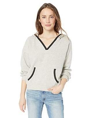 Lucky Brand Women's Contrast Trim Hooded Sweatshirt