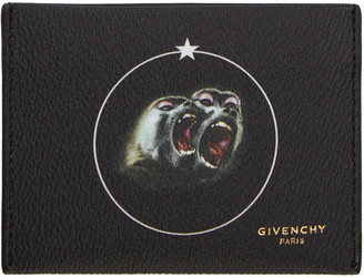 Givenchy Black Monkey Brothers Card Holder $245 thestylecure.com