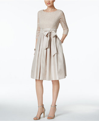 Jessica Howard Pleated Lace A-Line Dress $109 thestylecure.com