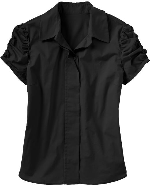 Women's Ruched-Sleeve Shirts