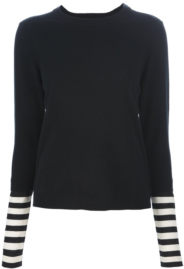Marc by Marc Jacobs striped sleeve sweater