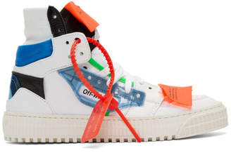 Off-White White and Blue 3.0 Off-Court Sneakers