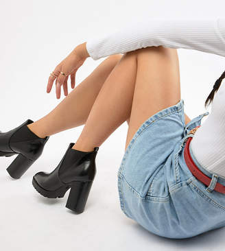 Truffle Collection Wide Fit Platform Ankle Boots