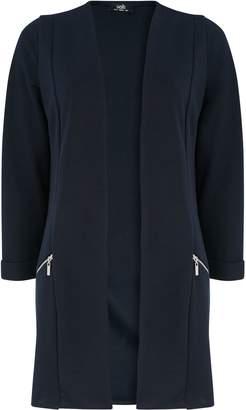 WallisWallis Navy Zip Pocket Jacket