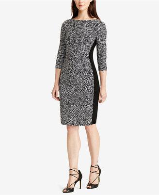 Lauren Ralph Lauren Printed Jersey Sheath Dress $139 thestylecure.com