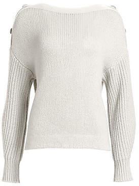 Akris Punto Women's Oversized Button Shoulder Pullover