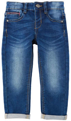 Mayoral Straight-Leg Denim Jeans w/ Rolled Cuffs, Size 3-7