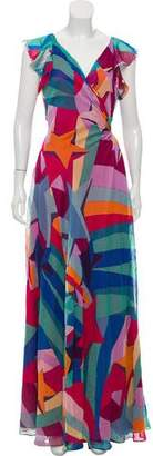 Diane von Furstenberg Printed Maxi Dress w/ Tags