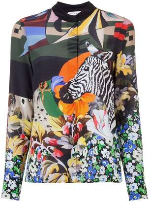 Mary Katrantzou zebra print blouse
