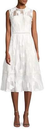 Alexis Taylina Sleeveless Fit-and-Flare Lace Midi Dress
