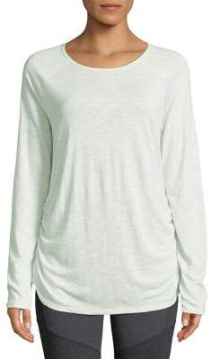 ASKYA Long Sleeve Side Ruched Top