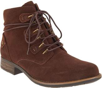 Earth Suede Lace-up Ankle Boots - Boone