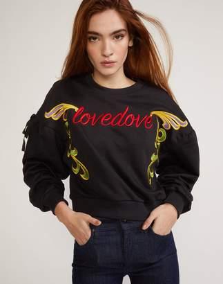 Cynthia Rowley Black Bedford Embroidered Sweatshirt