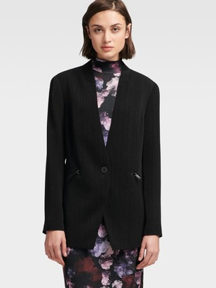 DKNY Dotted Pinstripe Suiting Blazer
