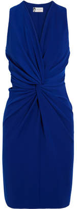 Lanvin - Twist-front Crepe Dress - Bright blue $1,450 thestylecure.com