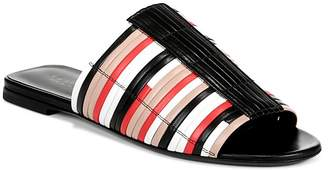 Via Spiga Women's Harlotte Color-Block Leather Slide Sandals