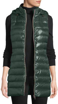 Herno Quilted Puffer Vest w/ Detachable Hood