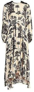 Johanna Ortiz Women's Nostalgia Del Pasado Printed Tie-Waist Midi Dress