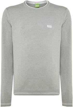 HUGO BOSS Men's Rime crew neck logo jumper