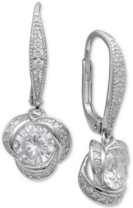 Giani Bernini Cubic Zirconia Love Knot Drop Earrings, Created for Macy's